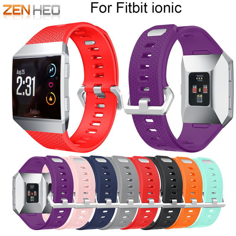 Watches, Parts & Accessories For Fitbit Ionic Strap Replacement Band Classic Metal Buckle Wristband Accessory