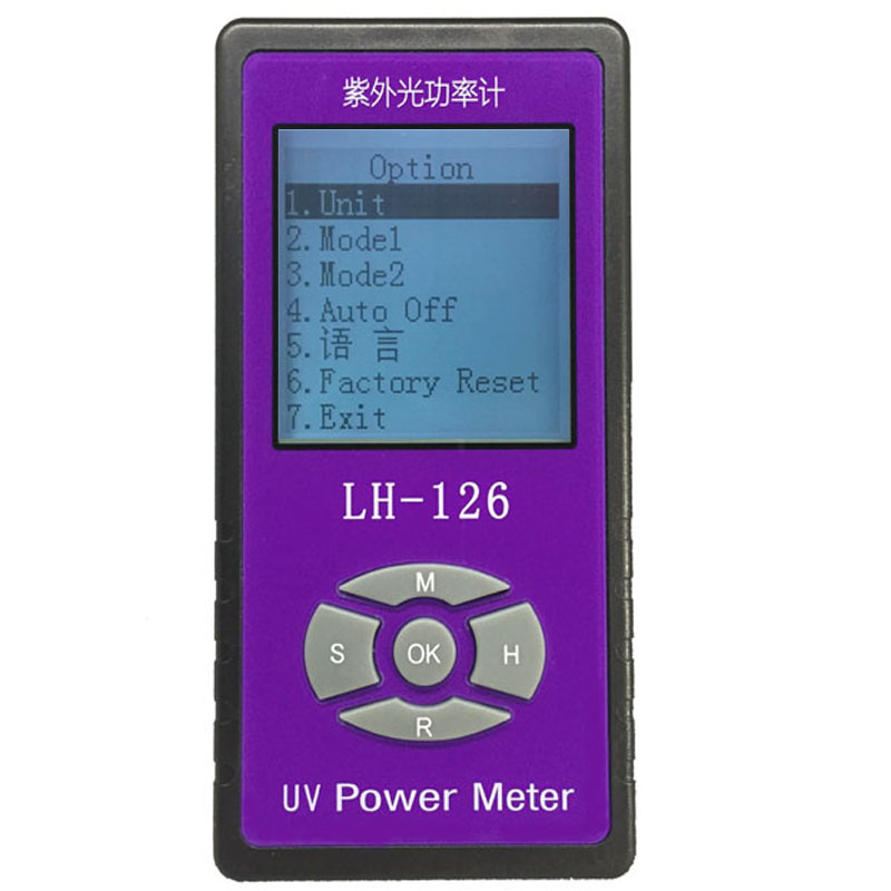 UV power Meter detector Barrier rate tester Solar Films UV Light transmittance test, Chinese and English interface option image
