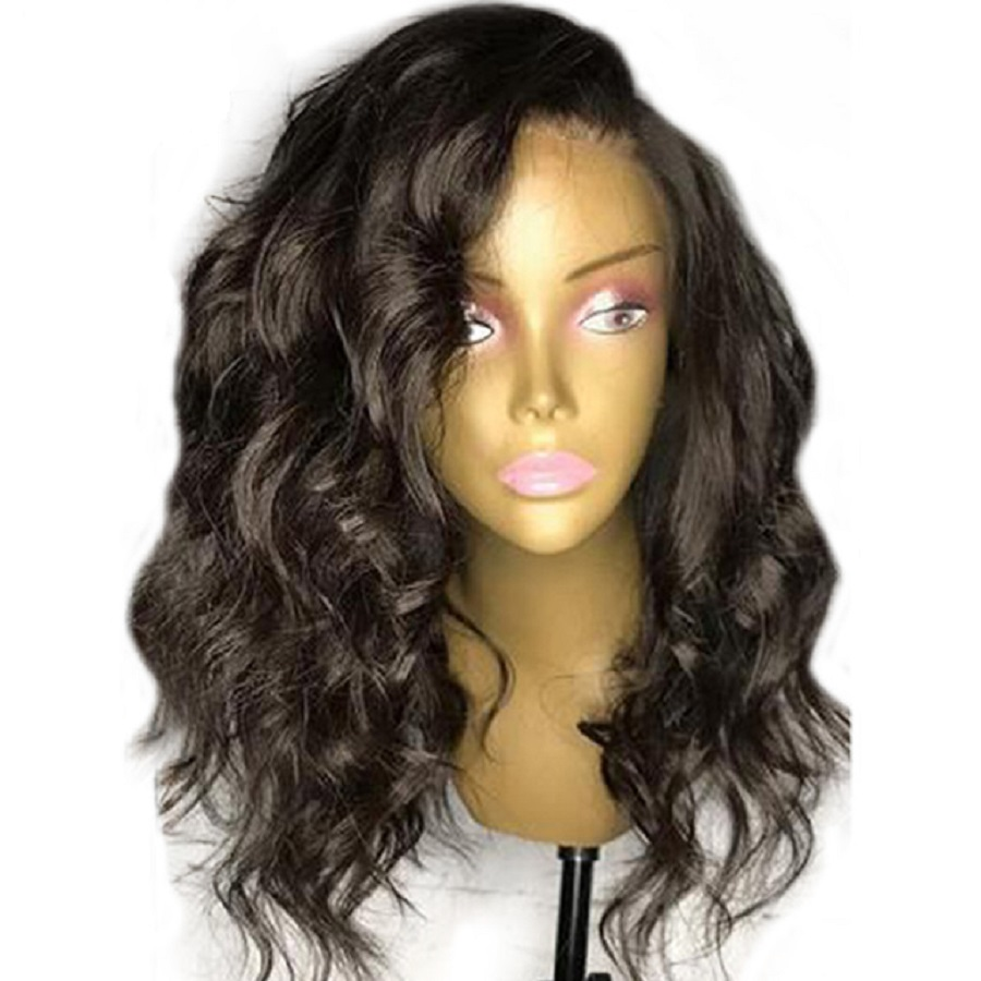 FUOU объемная волна кружева боб парик Синтетические волосы на кружеве человеческих волос парики предварительно сорвал волосяного покрова ко...