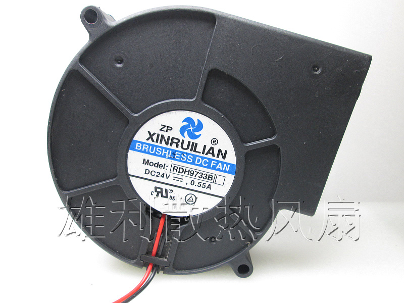Free Delivery.RDH9733B 24V 0.55A 9CM 9733 2-wire turbo cooling fan