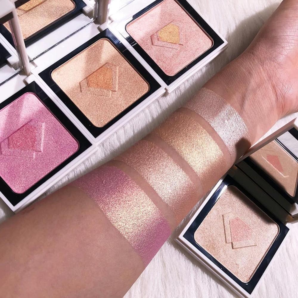 FOCALLURE Marca de maquiagem kit Brilho Iluminador Rosto Contorno Highlighter Highlighter Palette professional shimmer maquiagem
