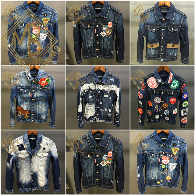 Di Lunga 2016fw Ds Giacca Burlon Marcelo Mb Murbon Jeans Manica qBvwBYaz