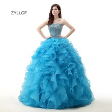 ZYLLGF Vestidos Quinceaneras Fotos Reales Puffy Dresses