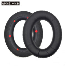 SHELKEE Replacement Ear pads Cushion Ear Cover Repair parts For Kingston HyperX Cloud Revolver Gaming Headset HX-HSCR-BK/NA цена