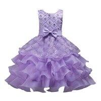 3-14 jahre mädchen Kinder Kleidung sommer Rüsche Formales kleid Pailletten Diamanten kuchen Geburtstag kleid