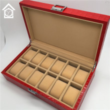 12 Grids Watch Display Box Original Red Leather Watch Storage Boxes Fashion Watch Gift Boxes A048
