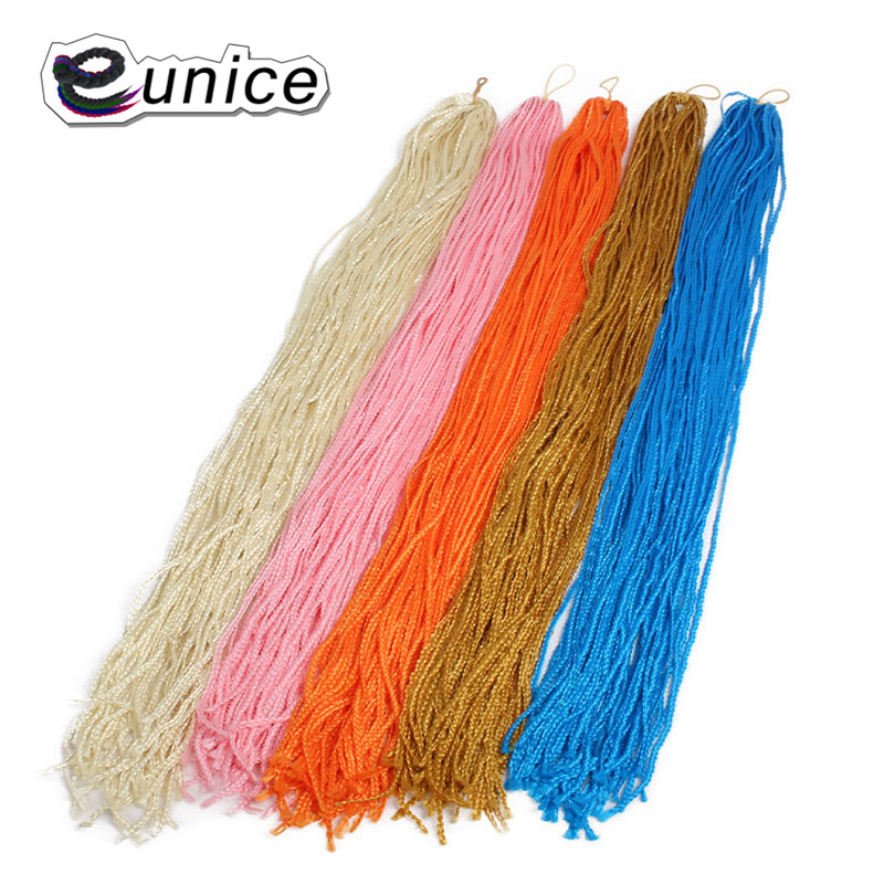 Eunice for Hair Hand Made 28 Inch 28 stands/pack Ombre Braiding Hair Small 3S Box Braid Synthetic Crochet Braids Hair Extensions