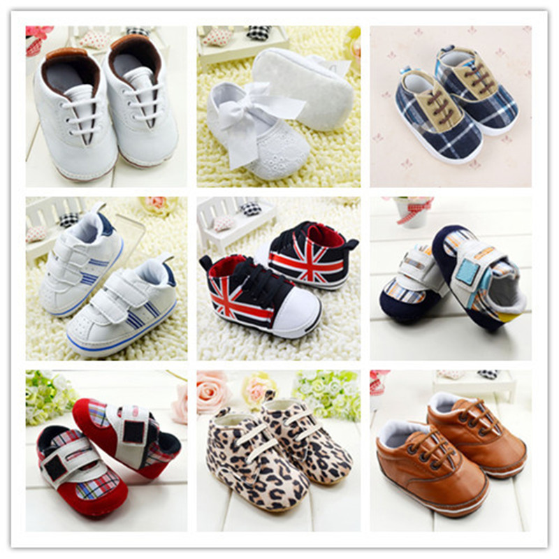 Infant-Toddler-Leather-Crib-Shoes-Lace-Up-Stripe-Sneaker-Baby-Prewalker-1