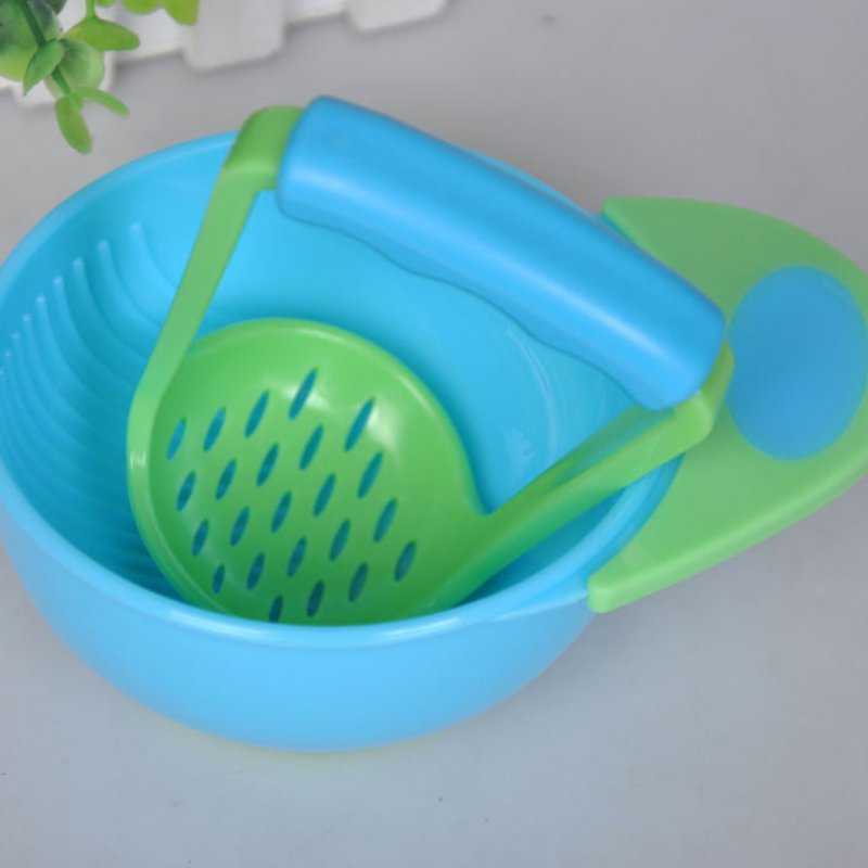 Baby Kid Learn Dishes Grinding Bowl Handmade Grinding Food Supplement Children Infant Food Mill For Kids