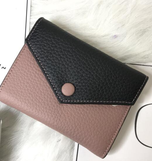2017 new fashion genuine leather wallet high quality small  zipper wallet with box and dust box free shipping hot selling 2017nipon jjuya high quality genuine leather zippy wallets with dust bag and box free shipping
