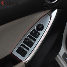 Interior Moulding For Mazda CX-5 CX5 2012-2015 ABS Matte Door Handle Armrest Trim Car Window Control Lifter Button Switch Cover