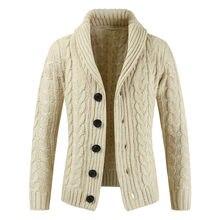 52ee7a2aa038 Suéter de invierno 2018 nueva venta caliente medio-largo para hombre suéter  blanco cárdigan Trench hombre otoño cálido chaqueta .