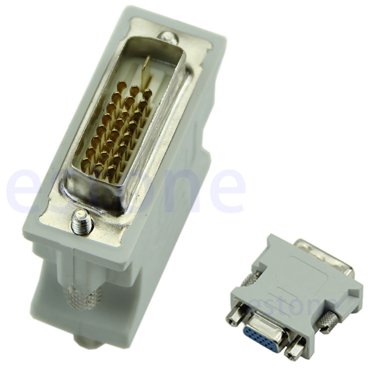 VGA 15 Pin PC Laptop Female 24+1 pin to DVI-D Male Adapter Converter LCD Lowest Wholesale Limited Sale материнская плата asus h81m r c si h81 socket 1150 2xddr3 2xsata3 1xpci e16x 2xusb3 0 d sub dvi vga glan matx