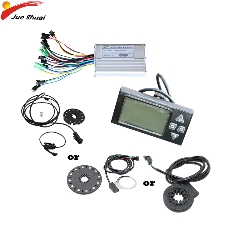 36V 350W/500W Electric Bike Controller LCD Display PAS Speed sensor Waterproof Cable Electric Bicycle Ebike Kit electric parts