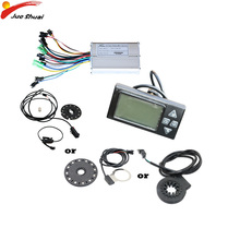36V 350W/500W Electric Bike Controller LCD Display PAS Speed sensor Waterproof Cable Electric