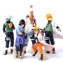 5Pcs/sets Naruto Edition Action Figure Toys 12 CM PVC Naruto Sasuke Kakashi Collectible Ornaments Model Toy Best Gift For Kids
