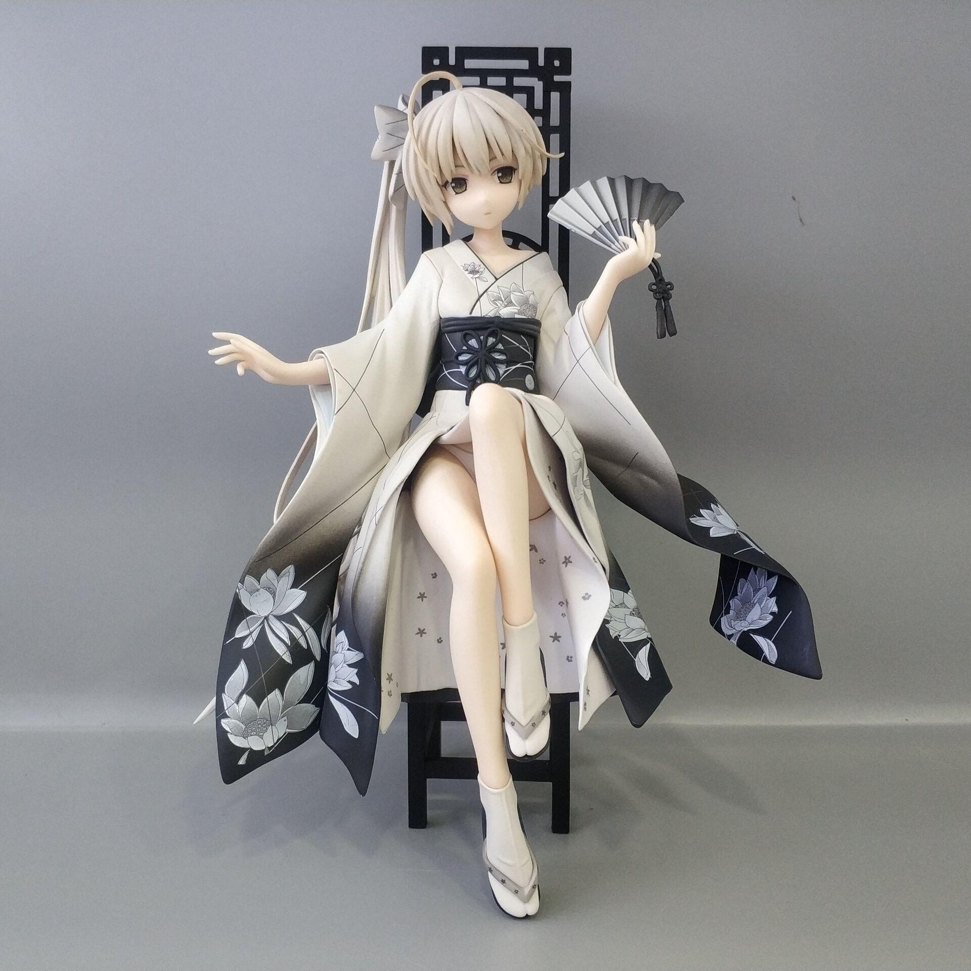 Figurine d'anime japonais 17 CM Kasugano Sora kimono assis ver figurine à collectionner jouets pour garçons