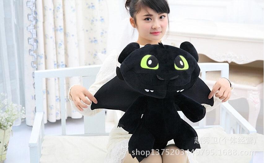 Haute qualité, Comment dresser Votre Dragon Édenté doux poupée grand 60 cm en peluche jouet coussin, cadeau de noël h125