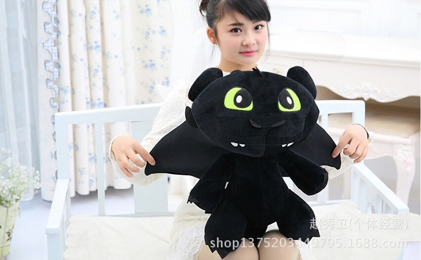 high quality,How to Train Your Dragon Toothless soft doll large 60cm plush toy throw pillow ,Christmas gift h125 free shipping about 60cm cartoon totoro plush toy dark grey totoro doll throw pillow christmas gift w4704