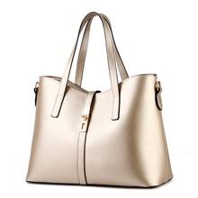 Cusual PU Women Handbag Elegant Office Lady Shoulder Bag Lock Crossbody Messenger Gold Color недорого