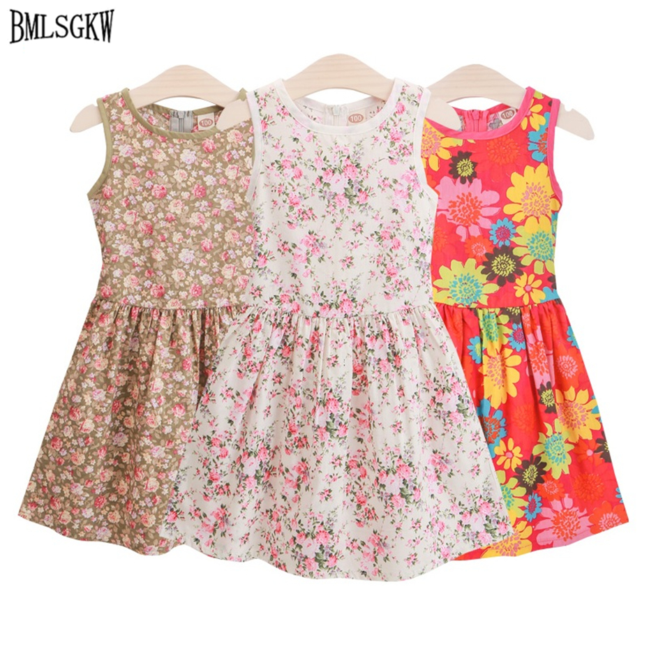 2017 Beach Rushed Fashion Brand Summer Girls Dress Cotton Flower Girl Dresses Kids For Clothes 3 Colors Party Infant For 2-8y jeremiah 2016 brand summer girl dress children party dress flower girls dress kids dresses for girls clothes fit for 2y 8y