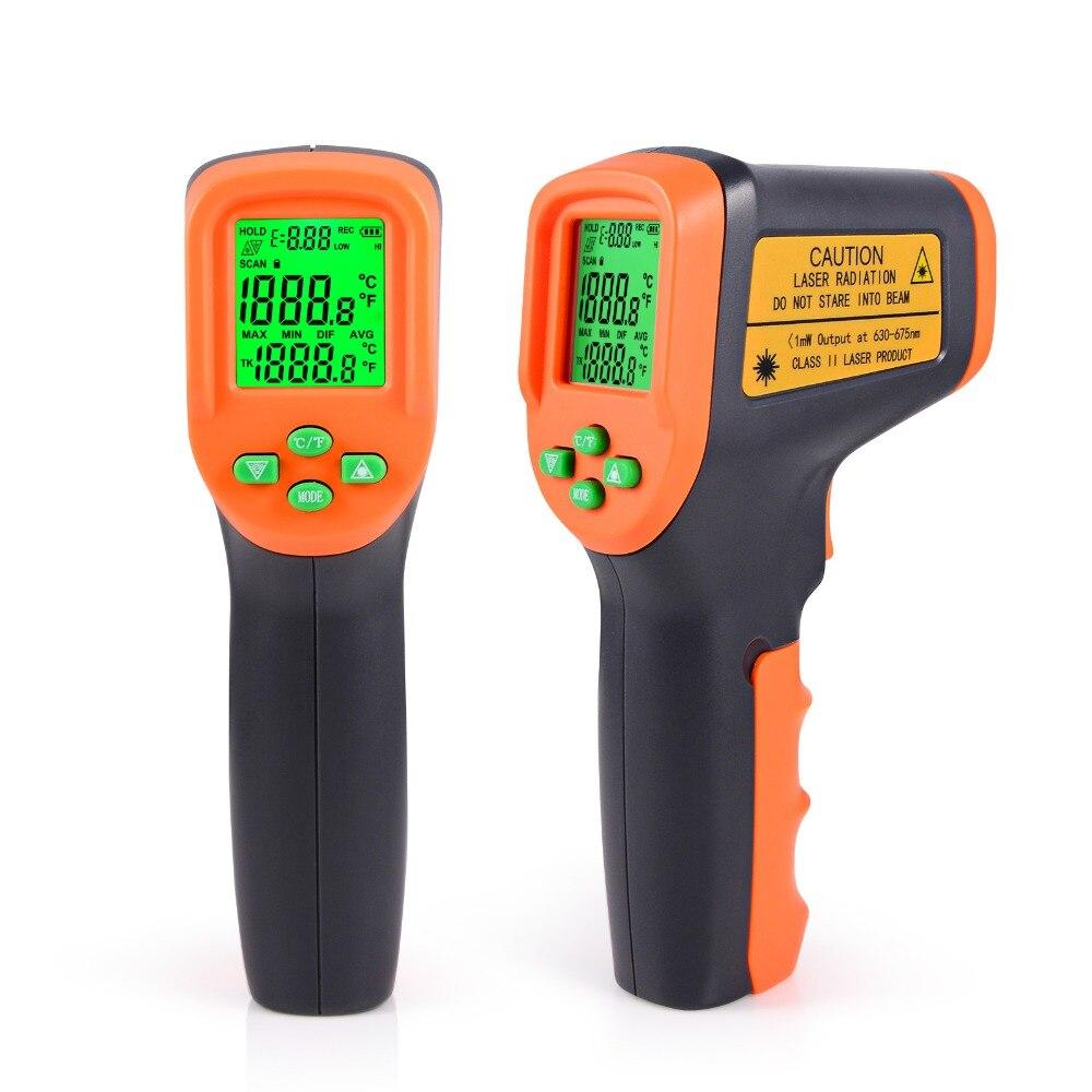 FOSHIO ЖК-дисплей цифровой инфракрасный термометр с лазерным бесконтактный термометр Температура метр пирометр ИК Точка Gun-50 ~ 650 градусов