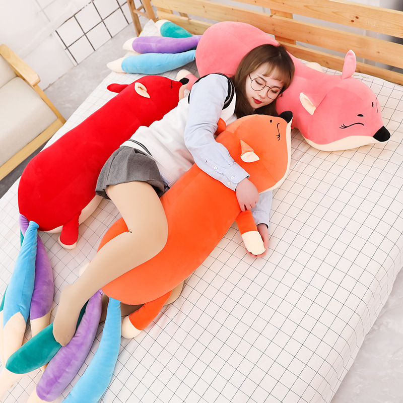 100cm 140cm Giant Kawaii Dolls Stuffed Animals Plush Toys For Girls Children Boys Toys Plush Pillow Fox Soft Toy Doll
