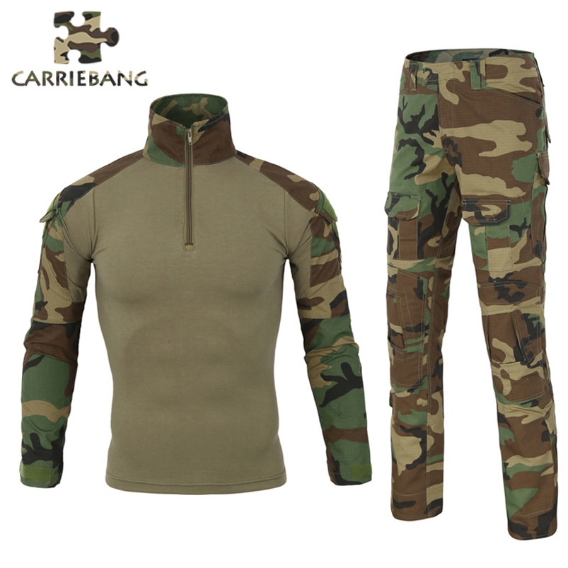 US Tactical Suit Airsofts Wehrmacht Military Clothing for Men Combat Printed Camouflage Suit Tactical Paintball Tactical