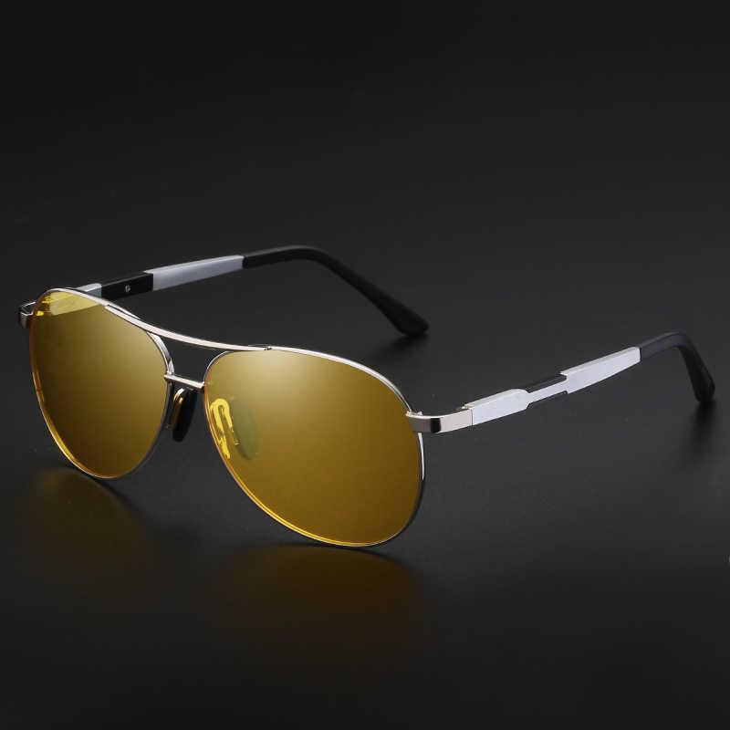 YSO Malam Visi Kacamata Pria Aluminium Magnesium Terpolarisasi Bingkai Kacamata Night Vision untuk Mobil Mengemudi Anti Silau Kacamata 6695