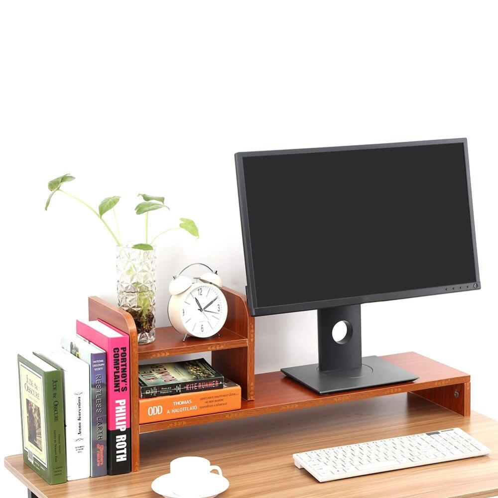 1 Pc Hohe Qualität Computer Laptop Monitor Riser Stand Desktop Holz Lagerung Veranstalter Regal