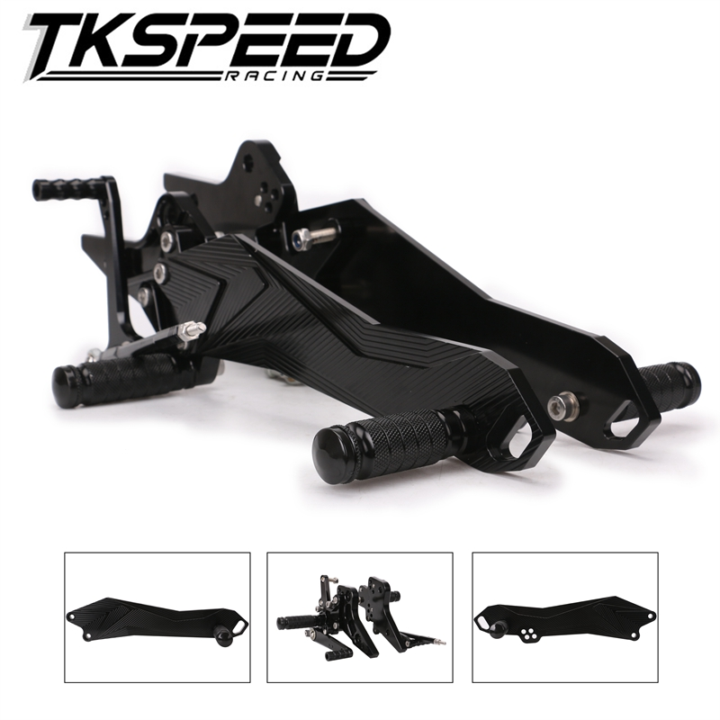 CNC Motorcycle Footrest Adjustable Motor Rearset Rear Set Foot Pegs For Kawasaki Z800 Z 800 2013 2014 2015 2016 for kawasaki z800 2013 2014 2015 motorcycle rear axle spindle chain adjuster blocks cnc aluminum z 800