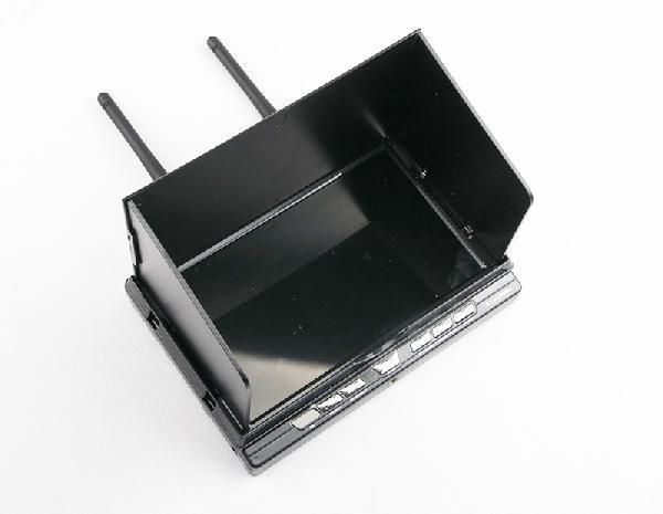 7 pouces 5.8G récepteur de diversité intégré moniteur LCD HD 32 canaux, enregistreur DVR RX-LCD5806 Support enregistreur HDMI w/batterie