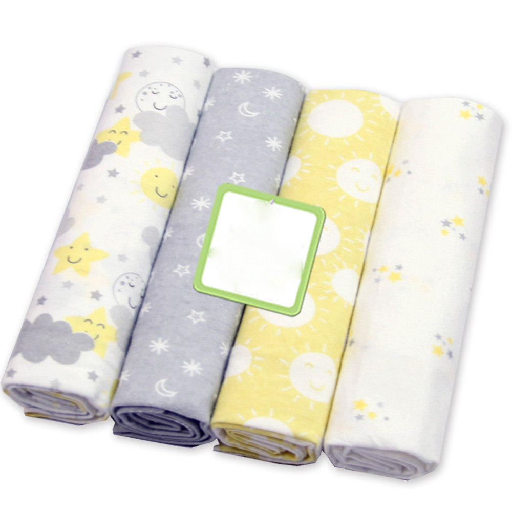 4 Pcs/Lot Cotton Receving Baby Blankets Soft Diapers Newborn Baby Bath Swaddle Infant Muslin Diapers Toddler Swaddle Blankets