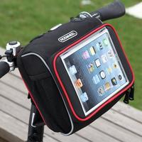 NEW ROSWHEEL iPad flatbed folding bicycle handlebar bag Cycling MTB Bike Bicycle bag Frame Front Tube Bag Black
