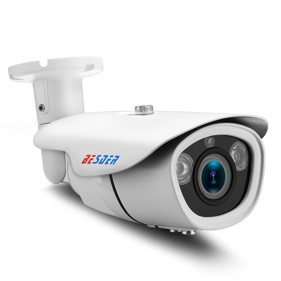 bilder für BESDER PoE Zoom Ip-kamera Cctv Wasserdichte Outdoor Manueller Zoom Vario-objektiv 2,8-12mm 720 P/960 P/1080 P 2Big Array LEDs