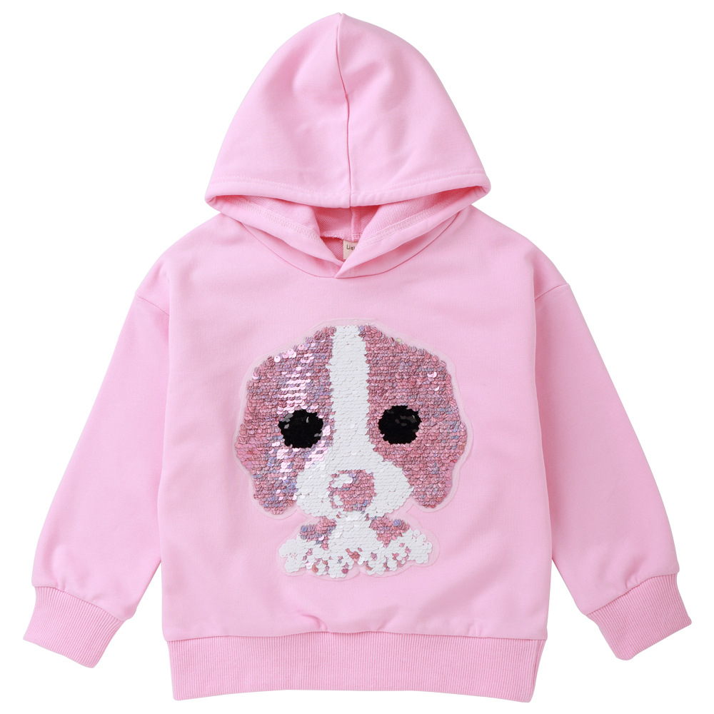 цена на Children's Hoodie Boys Girls Sweaters Long Sleeve Puppy Sequins Sweatshirts Pullovers Fall Winter Tops Warm Casual fashion 2018