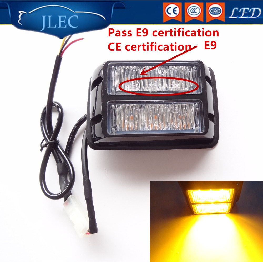 Car-styling 12/24V High Power 6 LED Strobe Lights Vehicle Emergency Warning Light Flashing Police Light Bar Red Blue Amber White free shipping high power 72w car cob warning light car styling external emergency strobe light bar flash white lamp