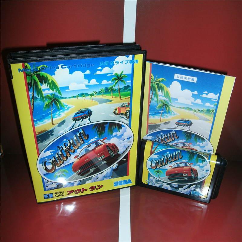 Outrun Japan Cover with box and Chinese manual For Sega Megadrive Genesis Video Game Console 16 bit MD card