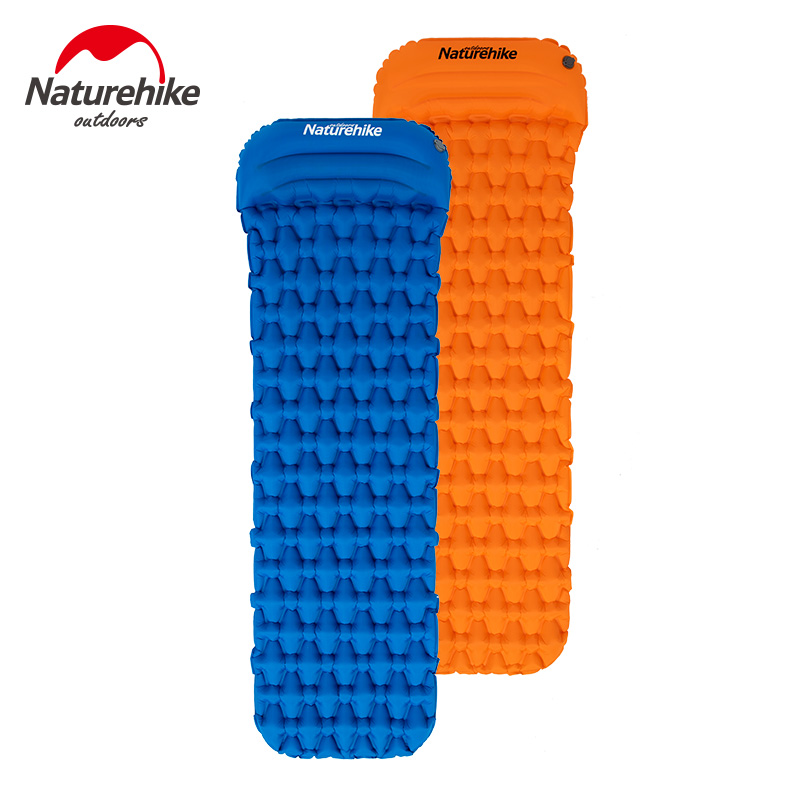 Naturehike Outdoor Camping Mat with Pillow Air Bag Sleeping Inflatable Pad Hiking Single Moisture proof Mattress