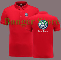 Volkswagen Brand Car Logo For 4S Shop Women And Men S POLO Shirt Short Sleeve Overalls