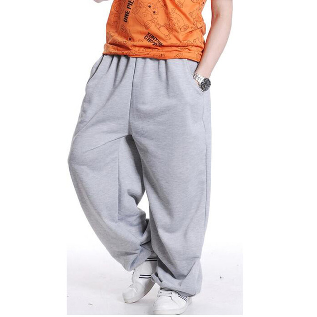 Moda Uomo Street dance Pantaloni Larghi Pantaloni Della Tuta Harem Pants Uomo  Hip Hop Refurtiva Abbigliamento b9b9af285c18