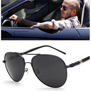 Men Sunglasses Aviation Oversized Brand Design Alloy Pilot Driving Spring Metail-Frame