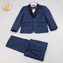 Nimble/синий костюм для мальчиков Enfant Garcon, детский Свадебный костюм, Блейзер, костюмы для мальчиков на свадьбу, смокинг для мальчиков