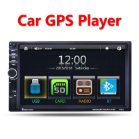 2 Din Car Multimedia Player GPS Navigation 7 HD Bluetooth Stereo Radio FM MP3 MP5 Audio