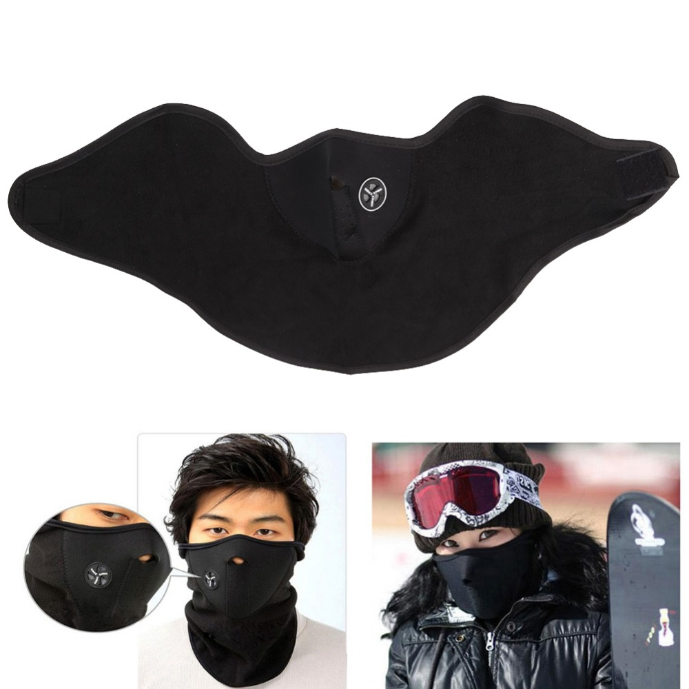 Airsoft Warm Fleece Bike Half Face Mask Cover Face Hood Protection Cycling Ski Sports Outdoor Winter Neck Guard Scarf Warm Mask title=