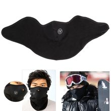 Winter Warm Fleece Balaclavas Ski Cycling Half Face Mask Cover Outdoor Sport Windproof Neck Guard Scarf Headwear Neoprene Masks(China)