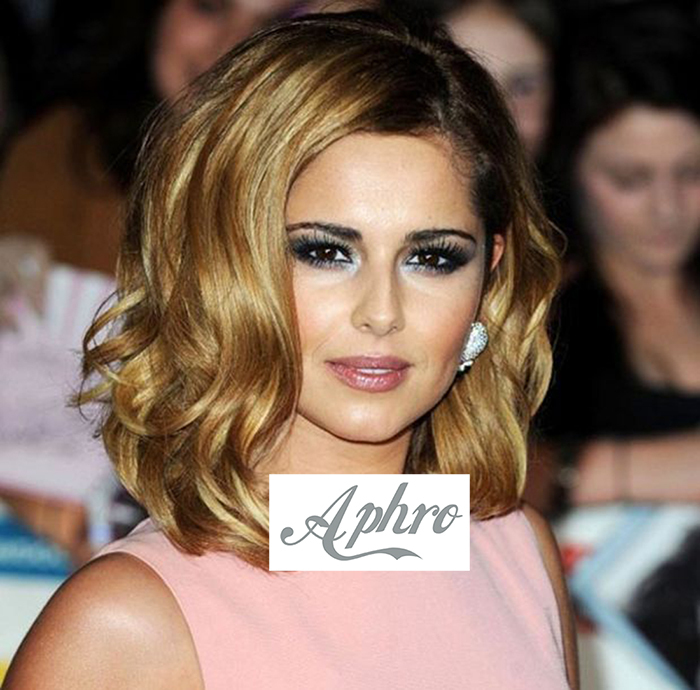 Golden Blonde Short Hair Ombre Lace Front Bob Wig Dark Roots Synthetic Heat Resistant 12 inch 150%density - Aphro Beauty Shop No.1 store