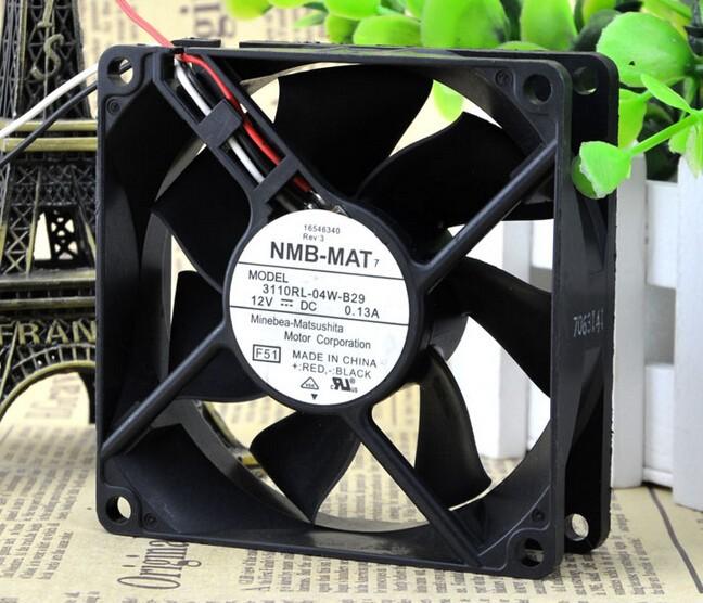 Wholesale: the original NMB 80*80*25MM 3110RL-04W-B29 12VDC 0.13A axial flow fan