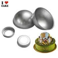 2015 Sale3D Aluminum Ball Sphere Cake Pan Baking Mold Tin Cup Cake Baking Bakeware Cake Decoration