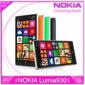 Оригинальный Nokia Lumia 930 сотовый телефон 20MP камеры LTE NFC Quad 32 ГБ ROM 2 ГБ 512ram бесплатная доставка
